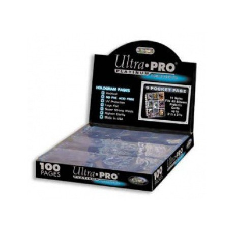 Ultra Pro - Platinium Pages 9-Pocket Display, 100ct