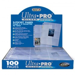 Ultra Pro - Silver 9-Pocket Pages Display, 100pc