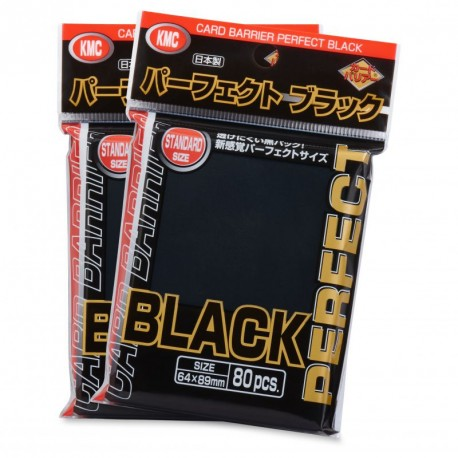 KMC - Standard 80 Sleeves - Perfect Black