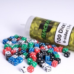 Blackfire - 5mm D6 in Tube (100 Dice)