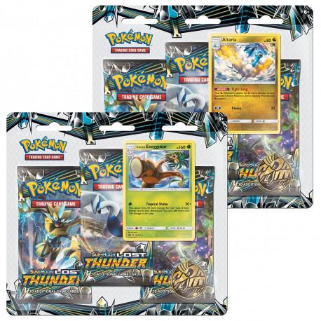 Pokemon - SM8 Lost Thunder 3-Pack Blister - Bundle (Alolan Exeggutor + Altaria)
