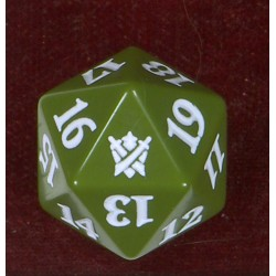 D20 Spindown Die - Khans of Tarkir - Green