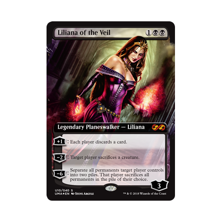 liliana of the veil ultimate box topper the mana shop