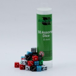 Blackfire - 8mm Assorted D6 Dice (30 Dice)