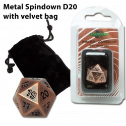 Blackfire - D20 Metal Spindown with velvet bag