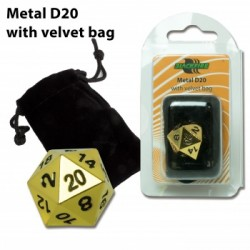 Blackfire - D20 Metal with velvet bag