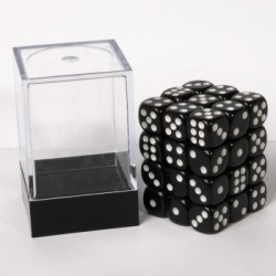 Blackfire - Dice Cube 12mm D6 (36 Dice) - Opaque