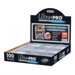 Ultra Pro - Secure Platinum 9-Pocket Pages Display, 100ct - SLIGHTLY DAMAGED