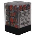 Chessex D6 Brick 12mm Gemini Dice (36) - Orange-Steel / Gold
