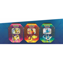 Pokemon - Elemental Power Tin - Set (Jolteon-GX + Flareon-GX + Vaporeon-GX)