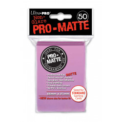 Ultra Pro - Pro-Matte Standard 50 Sleeves - Pink
