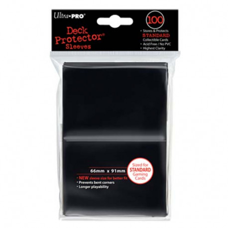Ultra Pro - Standard Deck Protectors 100ct Sleeves - Black