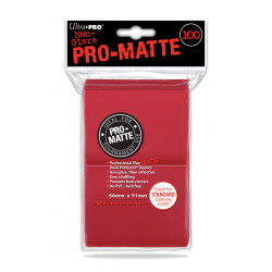 Ultra Pro - Pro-Matte Standard 100 Sleeves - Red