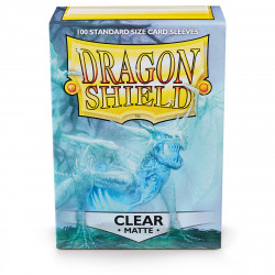 Dragon Shield - Matte 100 Sleeves - Clear 'Angrozh'