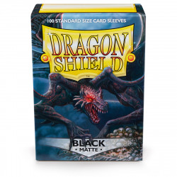Dragon Shield - Matte 100 Sleeves - Black 'Rhipodon'