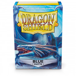Dragon Shield - Matte 100 Sleeves - Blue 'Dennaesor'