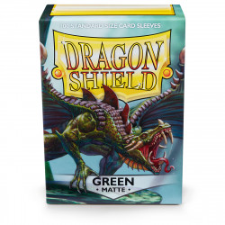 Dragon Shield - Matte 100 Sleeves - Green 'Drakka Fiath'