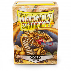 Dragon Shield - Matte 100 Sleeves - Gold 'Gygex'