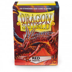 Dragon Shield - Matte 100 Sleeves - Red 'Moltanis'