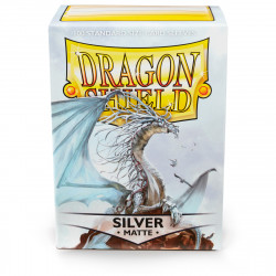 Dragon Shield - Matte 100 Sleeves - Silver 'Caelum'