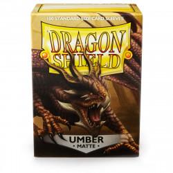 Dragon Shield - Matte 100 Sleeves - Umber 'Teranha'