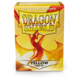 Dragon Shield - Matte 100 Sleeves - Yellow 'Elichaphaz'