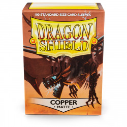 Dragon Shield - Matte 100 Sleeves - Copper 'Draco Primus'