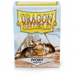 Dragon Shield - Matte 100 Sleeves - Ivory 'Ogier'