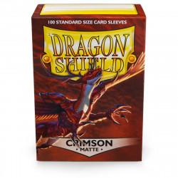 Dragon Shield - Matte 100 Sleeves - Crimson 'Logi'