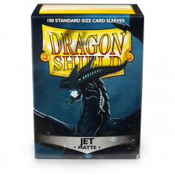 Dragon Shield - Matte 100 Sleeves - Jet 'Bodom'