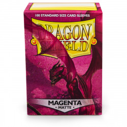 Dragon Shield - Matte 100 Sleeves - Magenta 'Fuchsin'