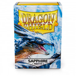 Dragon Shield - Matte 100 Sleeves - Sapphire 'Roiin & Royenna'