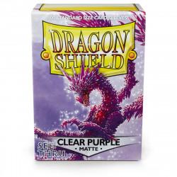 Dragon Shield - Matte 100 Sleeves - Clear Purple 'Racan'