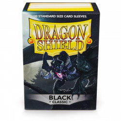 Dragon Shield - Classic 100 Sleeves - Black 'Signoir'