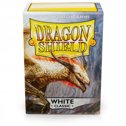 Dragon Shield - Classic 100 Sleeves - White 'Aequinox'