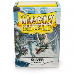 Dragon Shield - Classic 100 Sleeves - Silver 'Mirage'