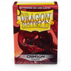 Dragon Shield - Classic 100 Sleeves - Crimson 'Arteris'