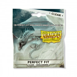 Dragon Shield - Perfect Fit Sideloaders Sleeves, 100ct - Clear