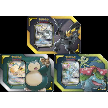 Pokemon Tag Team Tins Set Pikachu Zekrom Gx Eevee Snorlax