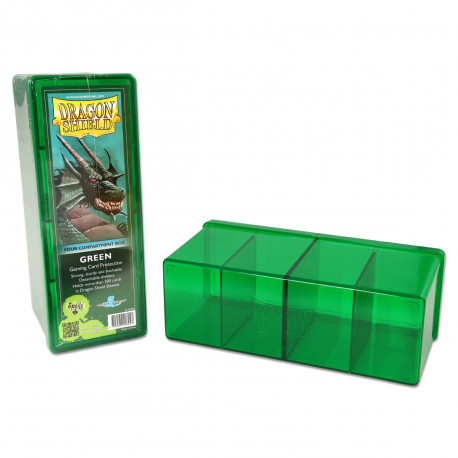 Dragon Shield - Four Compartment Boxes - Green