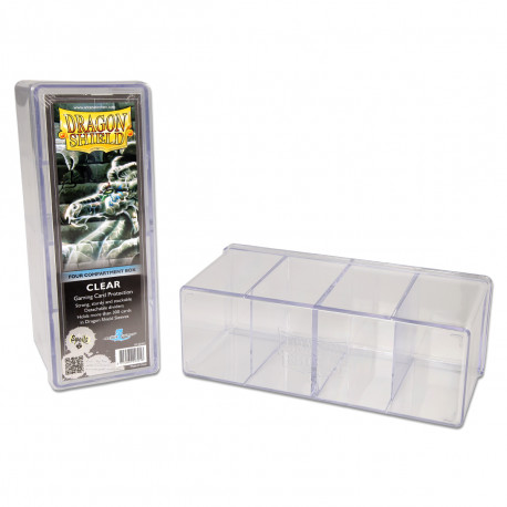 Dragon Shield - Four Compartment Boxes - Clear