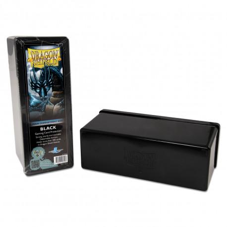 Dragon Shield - Four Compartment Boxes - Black