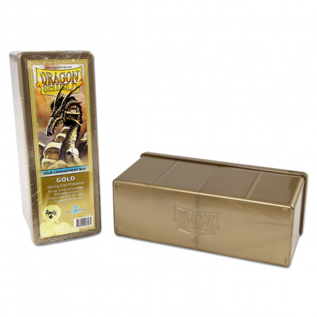 Dragon Shield - Four Compartment Boxes - Gold