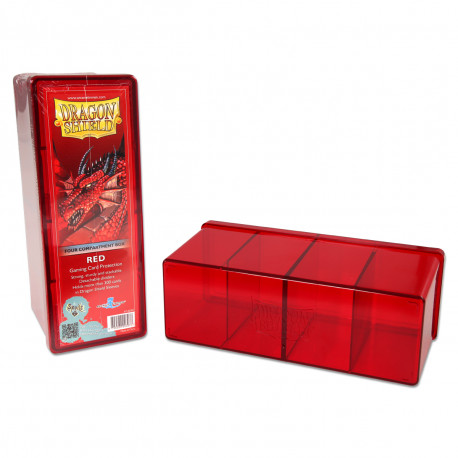 Dragon Shield - Four Compartment Boxes - Red
