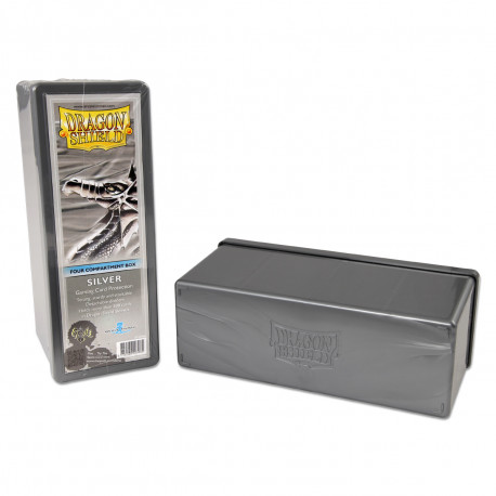 Dragon Shield - Four Compartment Boxes - Silver