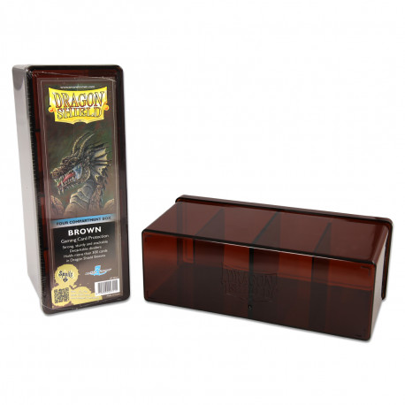 Dragon Shield - Four Compartment Boxes - Brown