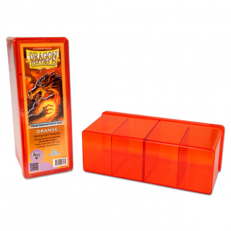 Dragon Shield - Four Compartment Boxes - Orange