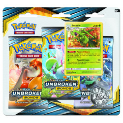 Pokemon - SM10 Unbroken Bonds - 3-Pack Blister Sceptile