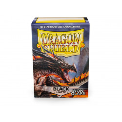 Dragon Shield - Matte Non-Glare 100 Sleeves - Black 'Amina'