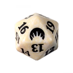 D20 Spindown Die - Magic Origins - White